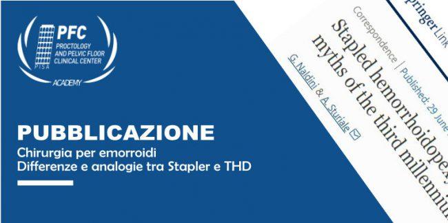 Chirurgia per emorroidi - Stapler e THD - differenze e analogie
